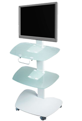 "Auxiliary dental table for  implantology and surgery ""Darta 1315\"" with large table top and monoblock"